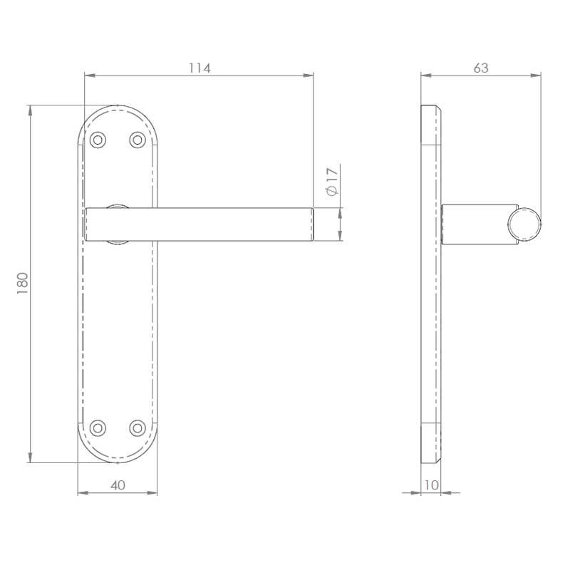 Diagram Image for Z55 Lever Latch Door Handles