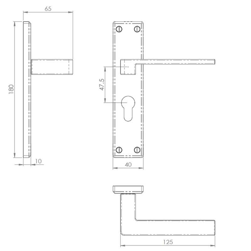 Diagram Image for Z61 Lever Euro Door Handles