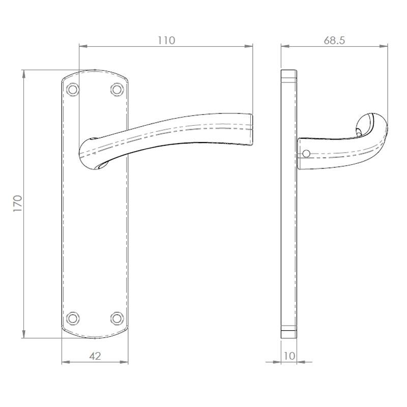 Diagram Image for Z67 Lever Latch Door Handles