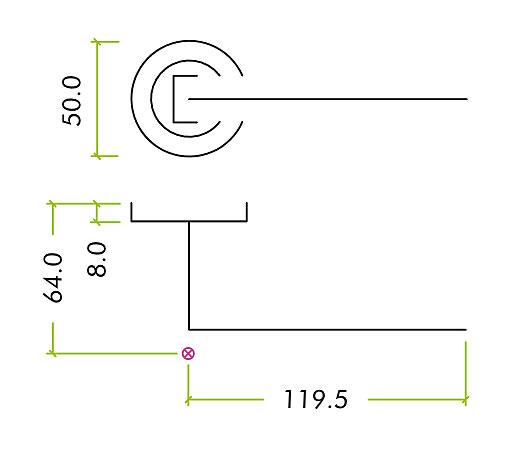 Diagram Image for Z80 Lever Rose Door Handle
