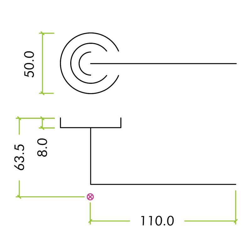 Diagram Image for Z81 Venice Lever Rose Door Handle Packs