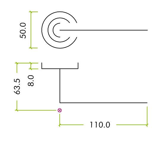 Diagram Image for Z81 Lever Rose Door Handle