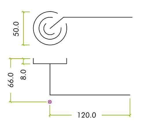 Diagram Image for Z83 Lever Rose Door Handle