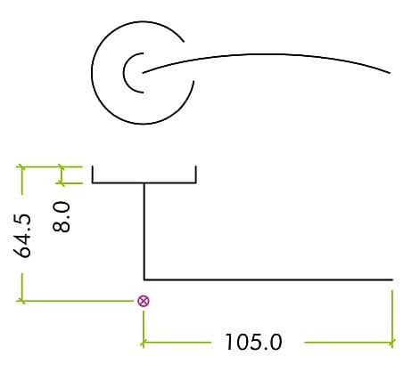 Diagram Image for Z87 Lever Rose Door Handle