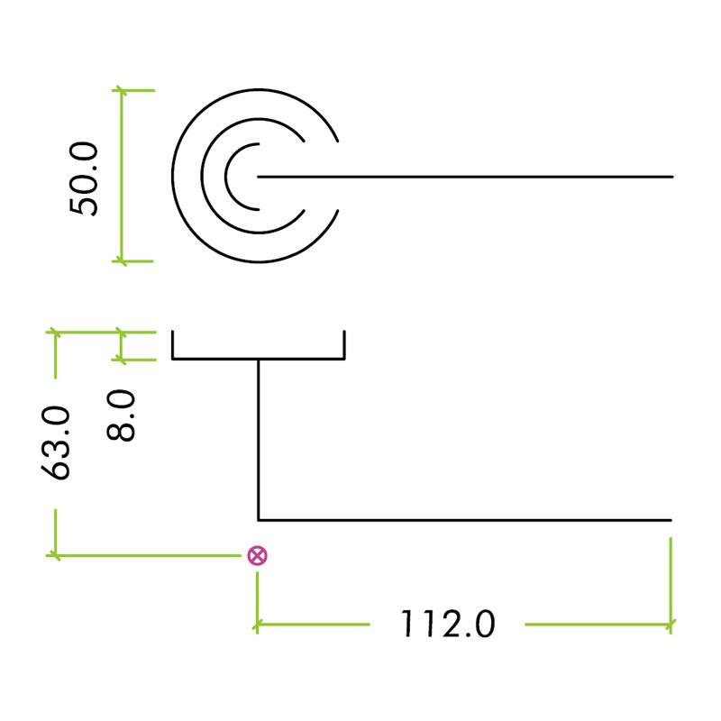 Diagram Image for Z88 Atlanta Lever Rose Door Handle Packs
