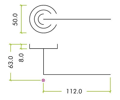 Diagram Image for Z88 Lever Rose Door Handle
