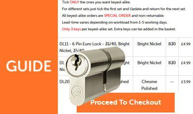 How To Order Keyed-Alike 6 Pin Euro Cylinders