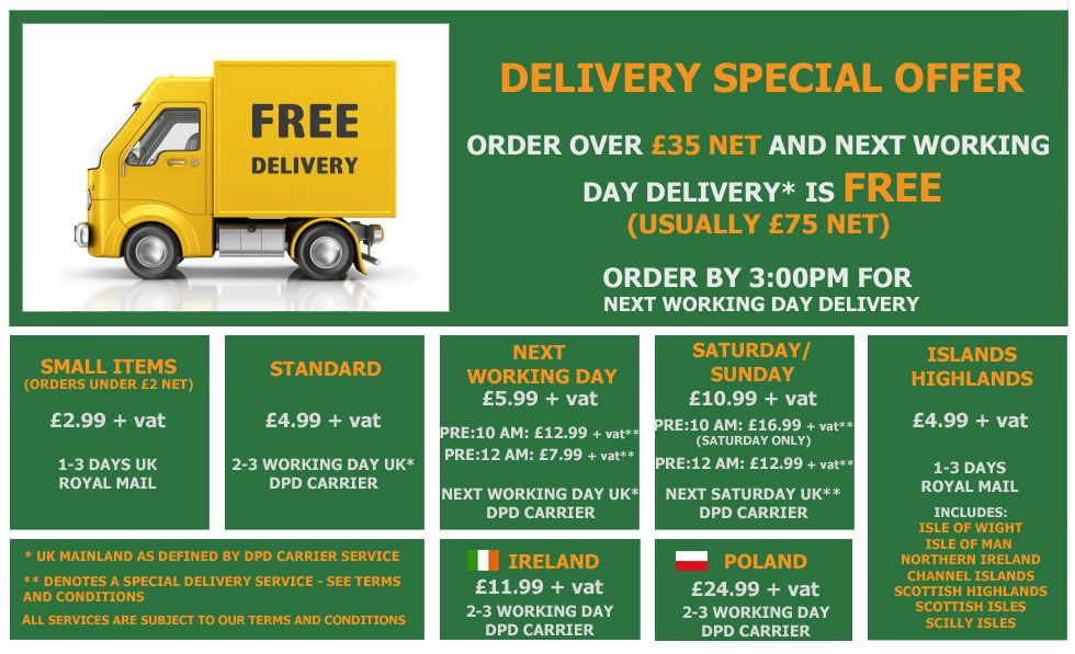 Delivery and despatch options