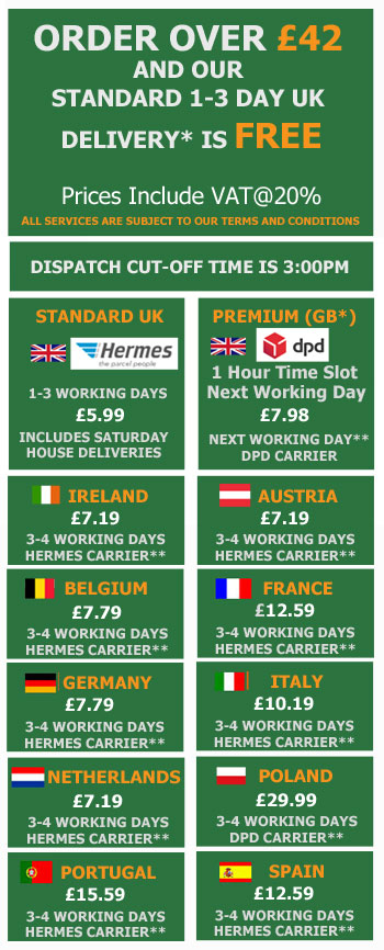 Delivery Charges Hermes and DPD