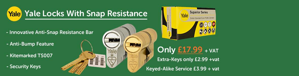 Yale Superior Series euro locks.