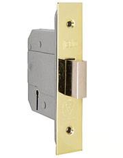 Mortice deadbolt door lock for exterior doors.