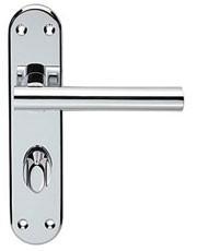 Lever backplate bathroom handle.