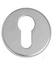Escutcheon lock cover for euro cylinder.