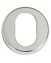 Escutcheon lock cover for an oval cylinder.