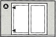 Location to fit patio door locks diagram
