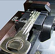 Yale Key Cutting In Operation