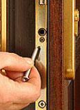 removing a door barrel screw in a upvc door