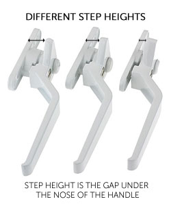 step heights for cockspur window handles