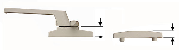 How to calculate the cockspur step height and wedge size