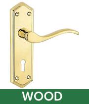 wood front door handles
